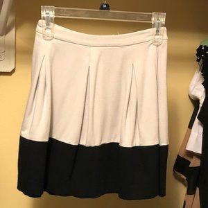 Express Beige and Black Skirt! So cute! Match up!